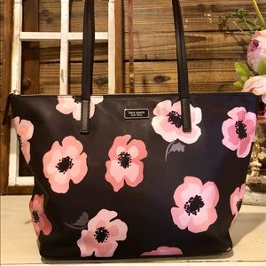 Kate Spade Haden Floating Poppies Tote NWT